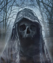 The angel of death demon of darkness photomanipulation Stock Images