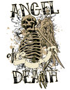 Angel death vector illustration ideal for printing on apparel clothes Stock Images