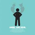Angel and devil dark side och ljus sida av människan Arkivfoton