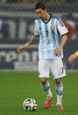 Angel di maria fabian hernandez pictured during the friendly football match between romania and argentina the final score th march Stock Photography