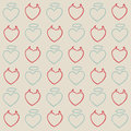 Angel and evil hearts pattern vector illustration of separate layers for easy editing Royalty Free Stock Photo