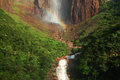 Angel falls venezuela lower end of the Royalty Free Stock Photo