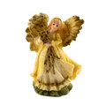 Angel figurine of an on a white background Royalty Free Stock Photography