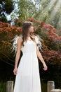 Angel in garden Royalty Free Stock Photo