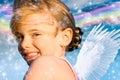 Angel Girl With Rainbow