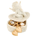 Angel gold jewelry box Stock Photography