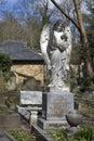 Angel on gravestone at Hampstead Cemetery, London