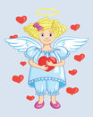 Angel With Heart Stock Photo