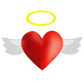 Angel heart a with wings Royalty Free Stock Images