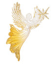 Angel holding in hand a star Decoration Royalty Free Stock Photo