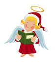 Angel holding a songbook cartoon Stock Photo