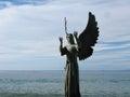 Angel of hope and messenger of peace in puerto vallarta mexico de la esperanza y mensajero de la paz by hector manuel montes Stock Image