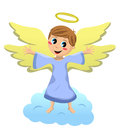 Angel kid with open arms Image libre de droits
