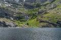 Angel lake in eastern nevada the humboldt range Royalty Free Stock Image