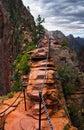 Angel landing trail em zion national park utá Fotografia de Stock