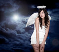 Angel and light of god in heaven Stock Photography