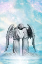 Angel love Stock Images