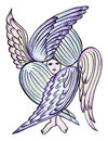 Angel with many wings Royalty Free Stock Images