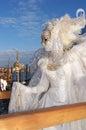Angel masquerador in venice a gorgeous masquerader at carnival Stock Photos