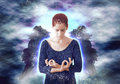 Angel meditating Royalty Free Stock Photo