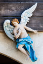 Angel messenger announcer nativity. Sculpture Royalty Free Stock Photo