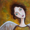 Angel Mixed Media Royalty Free Stock Image