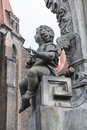 Angel on the monument of st john of nepomuk wroclaw poland Royalty Free Stock Image