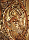 Angel playing a musical instrument Royalty Free Stock Photo