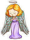An angel praying illustration of on a white background Stock Image