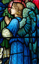 Angel (praying) In Stained Glass