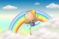 An angel in the rainbow illustration of Stock Photos