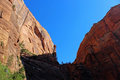 Angel`s landing trail, Zion National Park Royalty Free Stock Photo