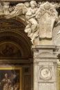 Angel. Santa Maria del Popolo Church, details. Rome. Italy