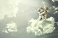 Angel sleeping on the cloud Royalty Free Stock Photo