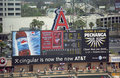 Angel Stadium of Anaheim Scoreboard Stock Photos