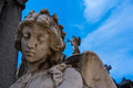 Angel Statue with closed eyes Royalty Free Stock Photo