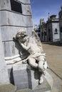 Angel Statue At Recoleta Cemet...