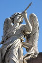 Angel statue in saint bridge rome italy Stock Images