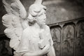 Angel tombstone - textured Royalty Free Stock Photo
