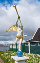 Angel with trumpet Royalty Free Stock Photo