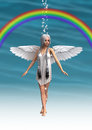 Angel under the Rainbow Royalty Free Stock Photo