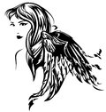 Angel vector Royalty Free Stock Photography