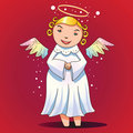 Angel is waiting for Halloween party Stock Image