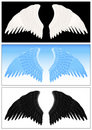 Angel wing set Royalty Free Stock Images