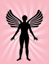 Angel with wings Royalty Free Stock Photo