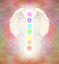 Angel Wings and Seven Chakras Royalty Free Stock Photo