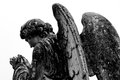 Angel wings tombstone guardian statue Stock Image