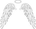 Angel wings for you design illustration of Royalty Free Stock Photo