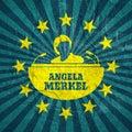 Angela Merkel simple portrait Royalty Free Stock Photo
