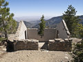 Angeles National Forest Mountain Ruin Stock Afbeeldingen